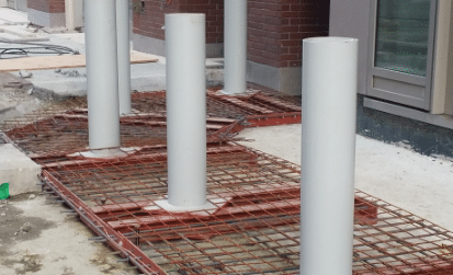 Crash Rated Bollards In Constructin